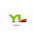 YL Logo vector image vector image