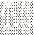 grunge black ink freehand cross seamless pattern vector image