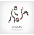 people sports wrestling vector image