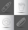 Fast food flat vector image