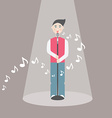 Male singer - EPS10 vector image