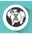 symbol DNA science molecule icon vector image
