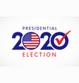 2020 presidential election vector image