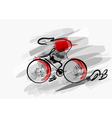 abstract cycling vector image