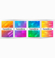 abstract gradient color for book cover brochure vector image vector image