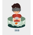 Augmented reality technology icon vector image