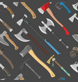ax metal axe equipment with wooden handle vector image