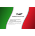 background with italian flag and free space vector image