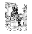 black and white drawing of Rome Italy cityscape vector image vector image