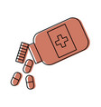 bottle drug isolated icon vector image vector image