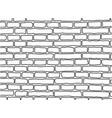 bricks line art vector image vector image