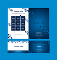 Brochure And Business Card Template vector image vector image