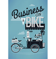 Business on a Bike Poster vector image vector image