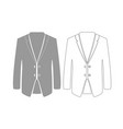 business suit grey set icon vector image