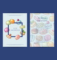 card flyer or brochure template for sweet vector image vector image