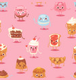 cartoon cake character chocolate sweets vector image vector image
