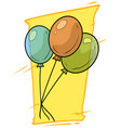 cartoon colored air balloons icon vector image