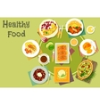 Cheese fish dishes icon for healthy food design vector image vector image
