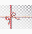 christmas candy gift tying isolated blank vector image vector image