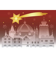 christmas historic town with bethlehem star vector image vector image