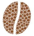 coffee bean icon shape vector image vector image