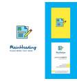 cv creative logo and business card vertical design vector image