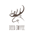 deer coffee negative space concept design template vector image vector image