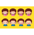 emotion kids vector image vector image