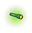 Flashlight icon comics style vector image vector image