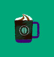 flat icon design collection cup of vector image vector image