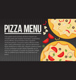 flat style pizza card menu vector image