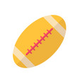 football flat icon vector image vector image
