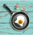 frying pan with egg vector image vector image