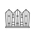 garden wooden fence icon in line art vector image vector image