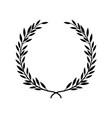 greek laurel or olive winner award wreath or leaf vector image vector image