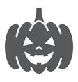 halloween pumpkin glyph icon autumn vector image vector image