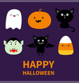 happy halloween candy corn ghost spirit pumpkin vector image
