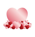 hearts and love icons vector image vector image