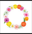 hello spring circle frame greeting card and vector image