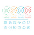 infographics colorful icons vector image