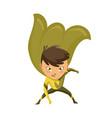 kid dressed as superhero cute superhero kid in vector image vector image