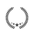 laurel wreath with 3 stars vector image vector image