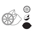 lemon icon in line design simple style vector image vector image