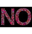 letter n o valentine alphabet vector image