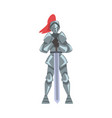 medieval knight chivalry warrior character in vector image vector image