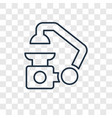 microscope concept linear icon isolated on vector image