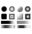 monochrome halftone effects design elements set vector image
