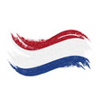 national flag of netherlands designed using brush vector image