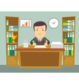 Office worker at work vector image vector image