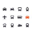 passenger transport icons set vector image vector image